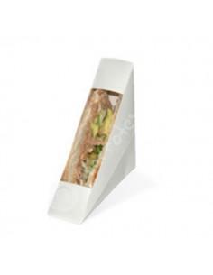 Envase de Cartón Blanco con ventana en Pet Sandwich sencillo - Punto Químico - Caja