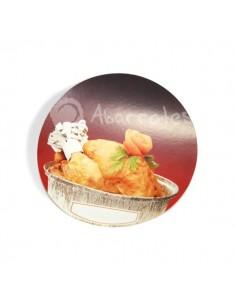 Tapa para Envase Aluminio Redondo Pollo Grande 1900 cc- Punto Químico - Caja