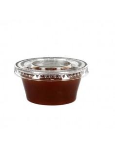 Tapa Plástico para Salsa 60 cc Transparentes
