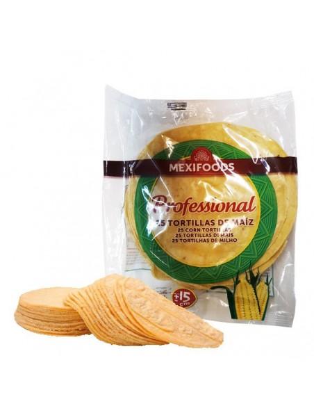 Tortilla Maiz Amarillo 15 cm