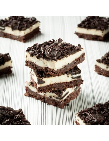 Brownie Queso y Oreo Cookie